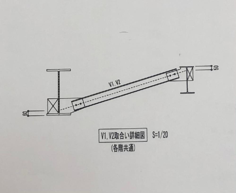 建築の構造設計をしてるものです。 質問なのですが梁の横座屈防止のため 横補剛材(写真ではV1.V2)を配置する際に 今回の建物では写真のように大梁(写真では左の梁)には下フランジ側に、小梁(写真では右の梁)には上フランジ側に取り付けています。(梁上にはデッキが敷かれています) このような取り合いはよくあるのでしょうか。 入社1年目で部材の取り合いについてあまりよくわかっていません、、、 わかる方はご教授お願いします。