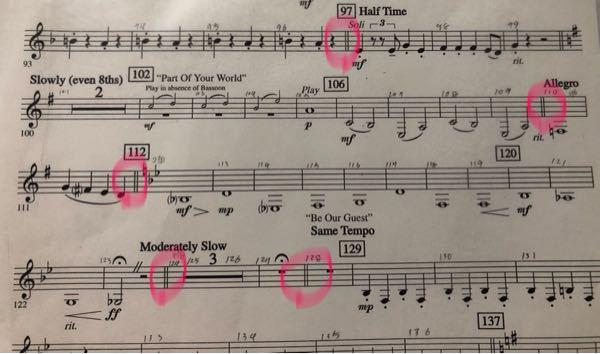 楽譜のこの2本の線はどういう意味ですか?