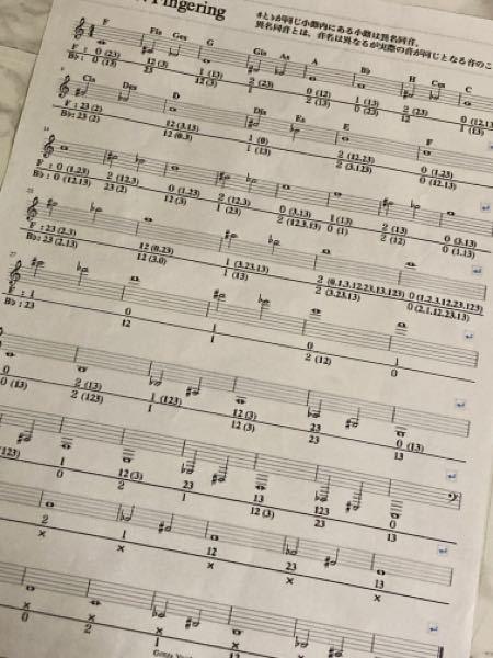 F管ホルンの fes の指番号わかる方いますか? この画像のものを使ってるのですがたまに楽譜にあるのにこの運指表?にない音があって そういう時ってどうやって判断すればいいんですか? また全ての指番号が載ってる運指表とかあれば 教えて欲しいです ♀️