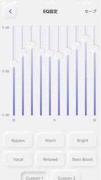 AVIOTのイヤホンのイコライザを『パーフェクト』にカスタマイズしたんですが、これで大丈夫ですか? +5Hzまでしか上がらないので数値的には間違ってるんですが形はほぼ一緒に揃えてます。