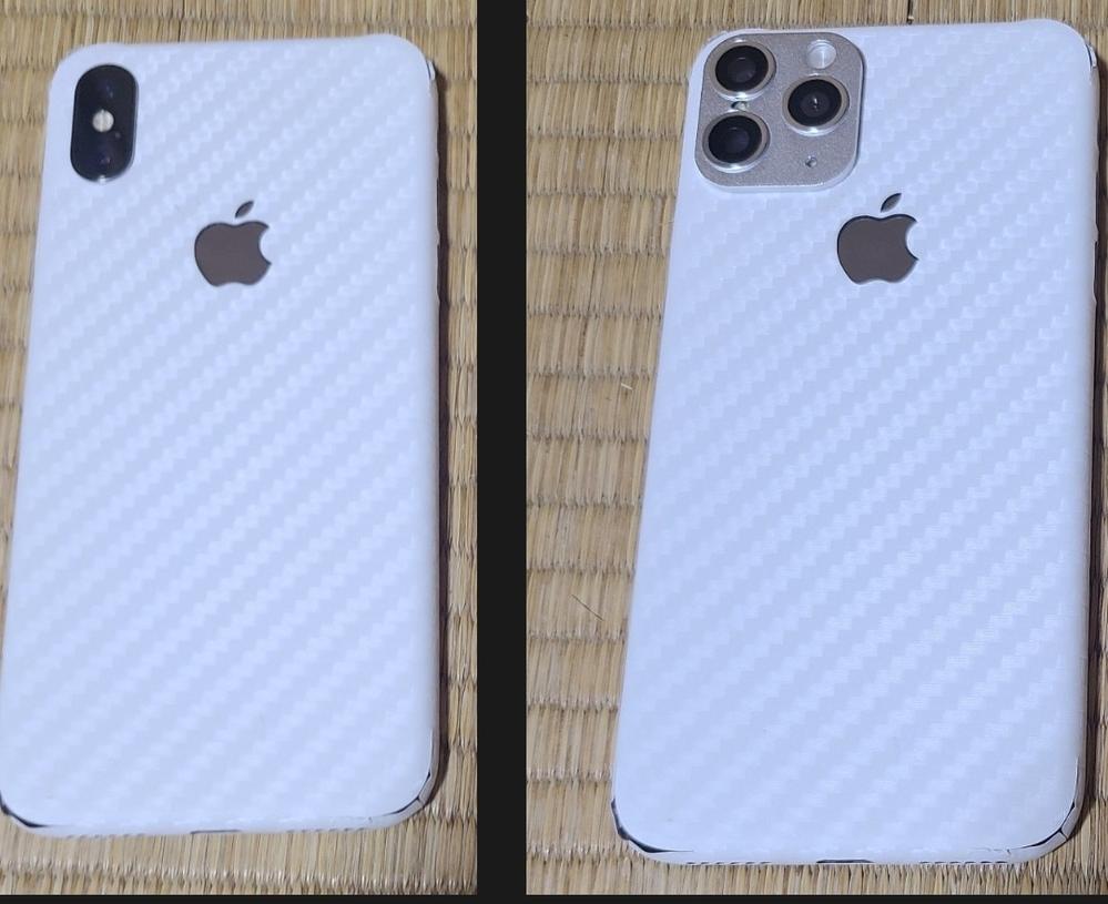 iPhone Xですが、カメラを他の機種に変えれるカバーを付けました。 これはiPhone 11proやiPhone 12proに見えますか? 画像の左から右になりました。