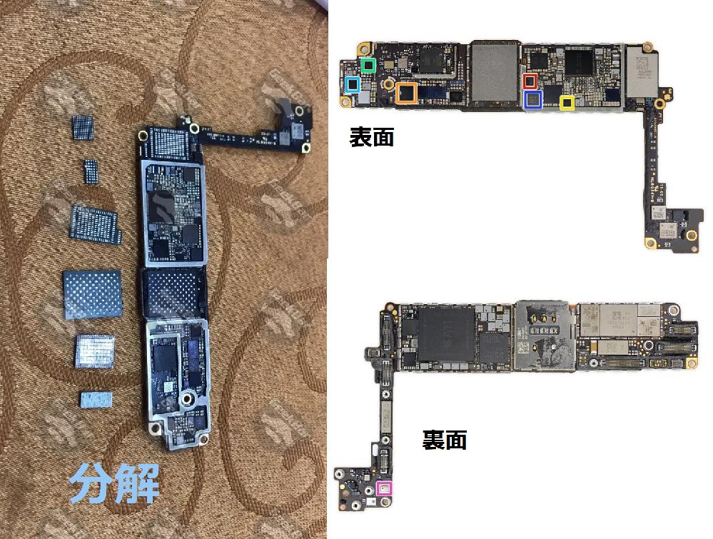 Iphone8に関してですがロジックボードが故障した可能性があるので自分で修理しようと思っているのですが、 このロジックボードに存在する真ん中部分の金端子が水玉模様になっている部分が 記憶装置ということでよいでしょうか? つまりはこの部分さえ取り外して新しいロジックボードに移植すれば Iphone内のデータはもとのまま引き継ぐことができるということでよろしいでしょうか??