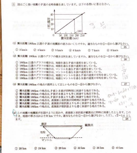 4番の計算の仕方を教えてください ちなみに答えは2です。
