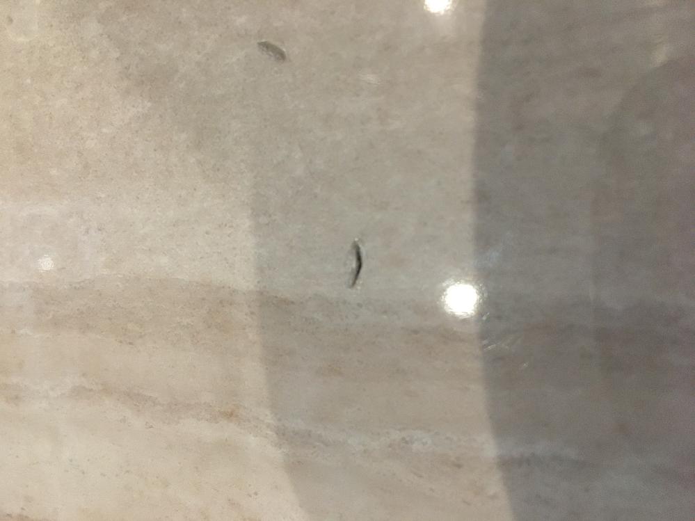 我が家はキッチン周りの床がタイルなのですが、お皿を落としてしまい凹みと盛り上がりができてしまいました。 子供がいるので、裸足だとザラつきを感じ、足を切らないか心配です。 タイルの張り替え以外で修復する方法はありますか? 突起物によるザラ付きだけでも改善したいです。 よろしくお願いします。