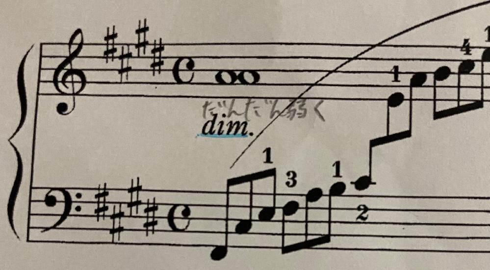 アラベスク第1番 / ドビュッシーの楽譜です 写真のト音記号の音符がラの所に全音符がふたつあるのですが、これはどういうことですか? ちなみにプリント楽譜で原曲を購入しました。