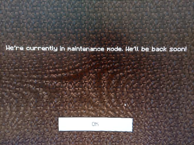pcで統合版マインクラフトをしているのですが、The Hiveのサーバーに入ろうとしたらこのような画面が出てきて入れませんでしたどうすれば良いでしょうか?
