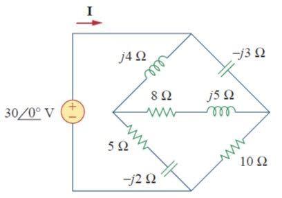 電気回路の課題なんですが分からなくて困っています…。回答よろしくお願いします。 (3) 図中にある回路の電流 Ⅰ を求めよ。