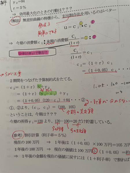 公務員試験、ミクロ経済学です。 ①、②より…の答えはどのように求めなのですか? 単なる数学の問題のようですが…