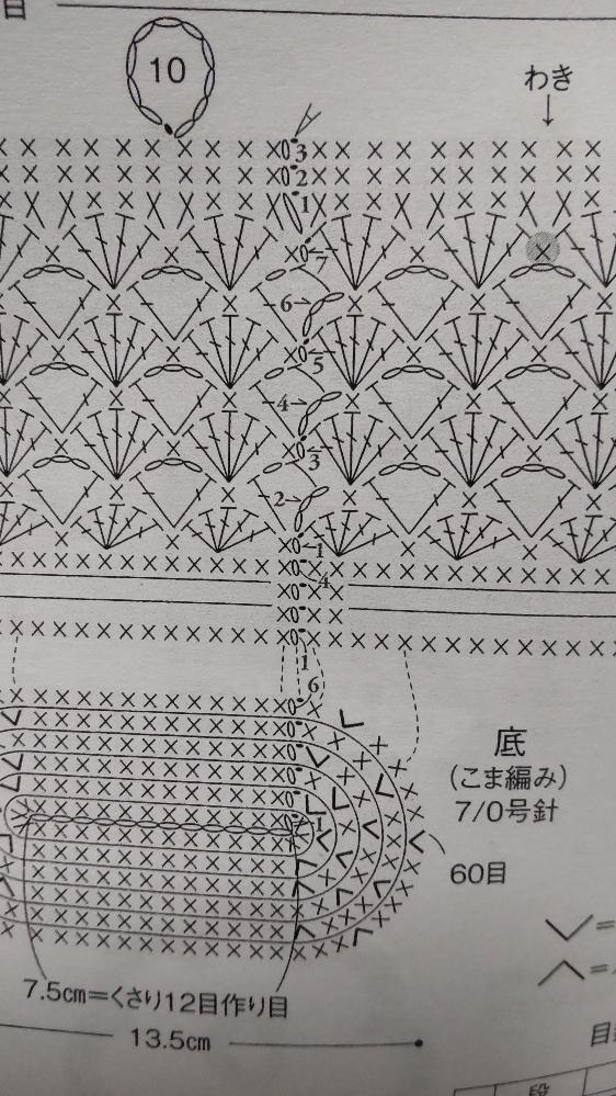 カギ編み初心者です。 画像の編み図、 二段目の立ち上がりが解読できません。。 3目鎖編みで立ち上がり、 その次はどこを編むのでしょうか? 根本のループに長編み? 中長編み??(どこに) よろしくお願いします