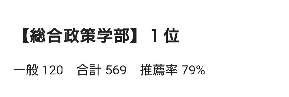 関西学院大学(関学)の総合政策学部は、推薦(スポーツ推薦、AO等の推薦含む)が約8割って本当ですか?