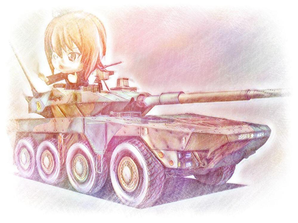 頑張って陸自の16式機動戦闘車を掻き毟りました。似ていますか?