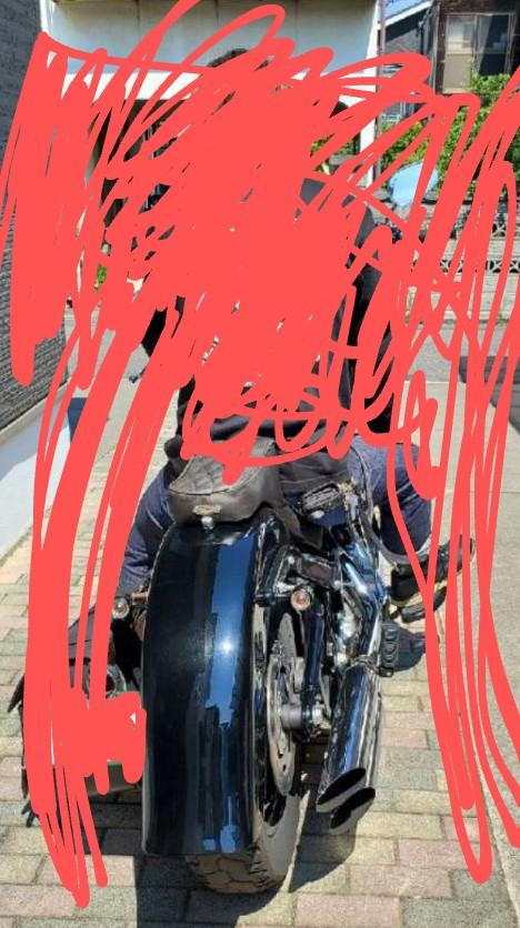 バイク アメリカンバイク このバイクのメーカー名とか車種名わかる方いたら教えてください