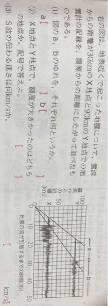 教えてください 理科 地震 速さ 簡単なはずなのに全然わかりません!! (3)です!