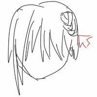 下の画像みたいに髪の毛の横に少しだけある三つ編みを描きたいのですが、なんて調べたら出てきますかね? あと、こういう三つ編みはどういう感じになってるのでしょうか?