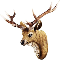 この鹿のオブジェ、背後に壁掛けの穴が開いているのですが、どんな道具で壁掛ければ良いのか分かりません。 https://www.amazon.co.jp/gp/product/B07C3LQMR3/ref=ppx_yo_dt_b_asin_title_o04_s00?ie=UTF8&psc=1 この鹿のオブジェを壁に掛けるにはどうしたら良いでしょうか?