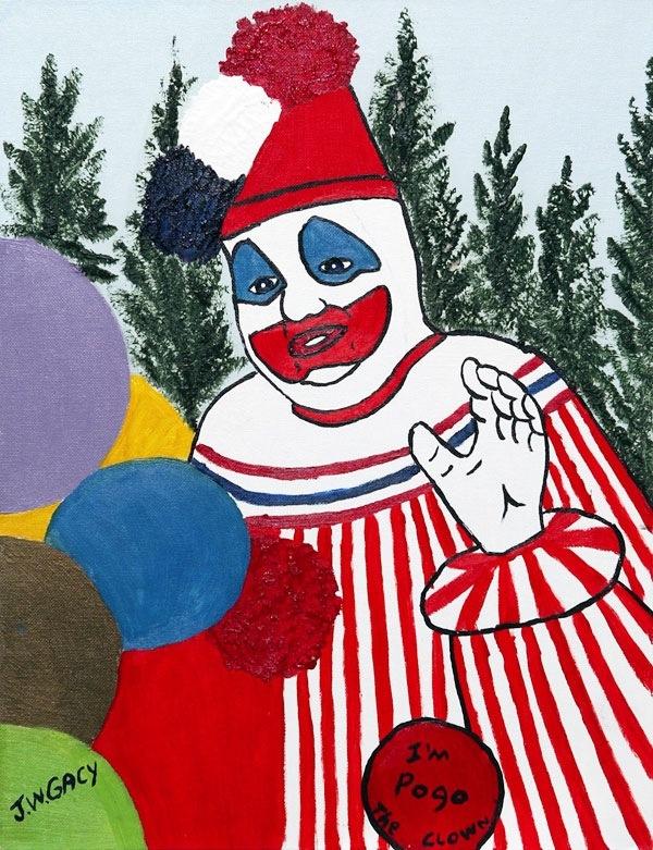 自分自身が描いた絵について質問です。 2年ほど前に油絵でジョン・ゲイシーという 死刑囚が描いたピエロの絵(下の写真)を 真似て書いたんです。 それ以来自分自身が何度も体に怪我をしたり 家族が病気にかかって入院するなど 何かと不幸が続いてる気がします。 一概に絵のせいとは言えませんが気がかりで 怖いので捨てる、燃やす、供養する、など 対処法を教えてほしいです。