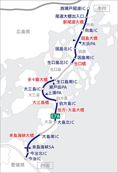 しまなみ海道こと西瀬戸自動車道は何故本州側or四国側のどちらかしか出入りできない「ハーフIC」が多いのですか?
