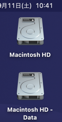 Mac Bookのデスクトップ上にHDが表示されているのですがこれは捨てたらまずいですよね? 非表示にすることはできますか?
