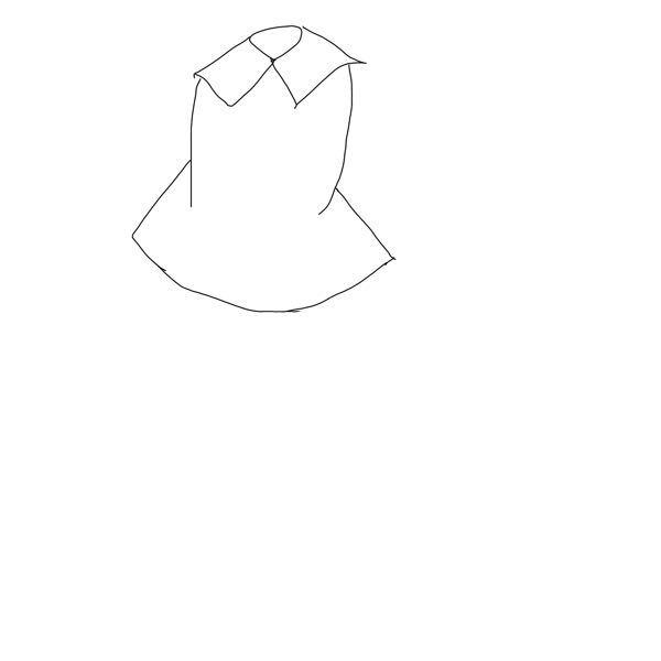 MMDモデルを探しています…こんな感じに下が広がった上服のモデル知ってる方居ませんか、?下が一気に広がってるものを探しています。もし知っていたら教えて頂けるとありがたいです、!