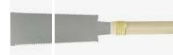 ノコギリの刃を家庭で切断する方法は? 刃の長さを半分程度に切断したいです。 特殊な電動工具の購入や使用をすることなく 切断出来る方法があれば教えて下さい。