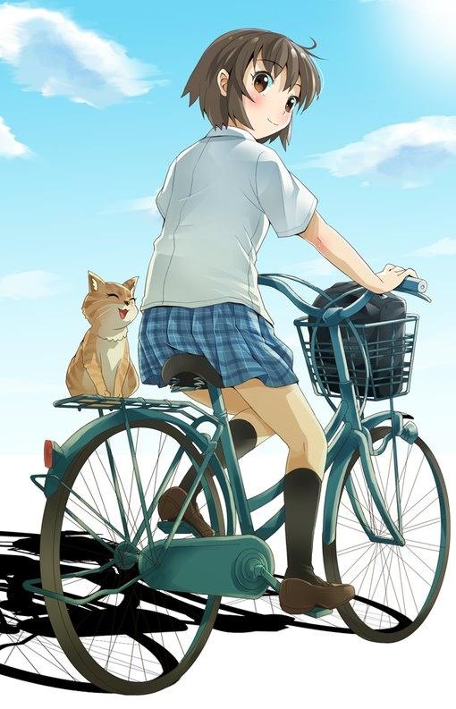 女子高生の方で自転車通学されている方にお聞きします ペダリング中スカ-トが上がらないように何か細工はされていますか?