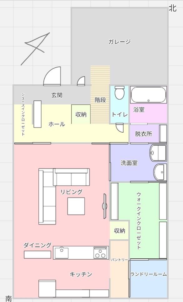 1階のみですが間取り診断お願いします。 風水やアドバイスなどもありましたらお願いしたいです。