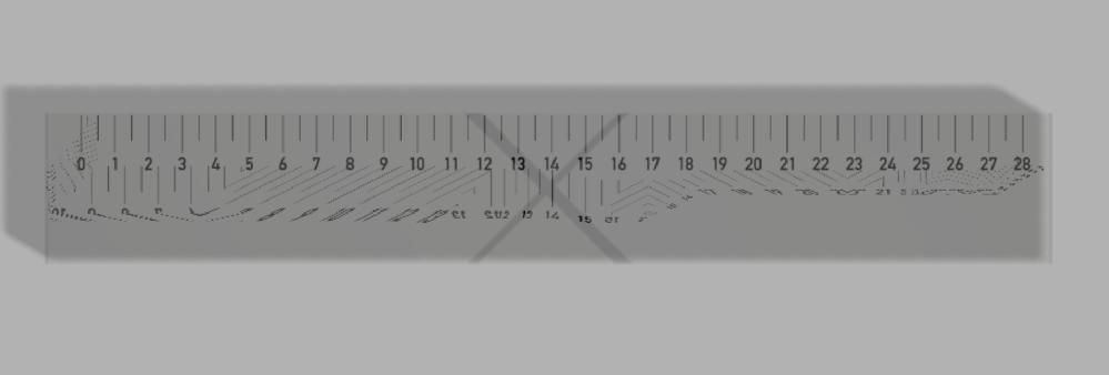 Fusion360について質問です。 現在アクリル(クリア)の材質を使った定規を作っているのですが、画像の通り、目盛りのデカールを定規の表面に貼り付けると定規の裏に歪んだデカールが同時に張り付くという現象が発生してしまい困っています。 素材をアクリルだけでなく他の素材にした時も裏に同じような歪んだデカールが表示されてしまいます。 デカールはイラレで作ったPNGで、特にこれといった特殊な加工はしていません。 作っているモデルも長方形のスケッチを押し出しただけの超簡単なモデルです。 どうすれば表にだけ綺麗にデカールが貼れますでしょうか? ググって調べてみたのですが解決方法がわからなかったためこちらで質問させていただきたいと思い投稿させていただきました。 もし解決策がお分かりでしたらご教授していただけると大変助かります。 ご回答の程よろしくお願い申し上げます。