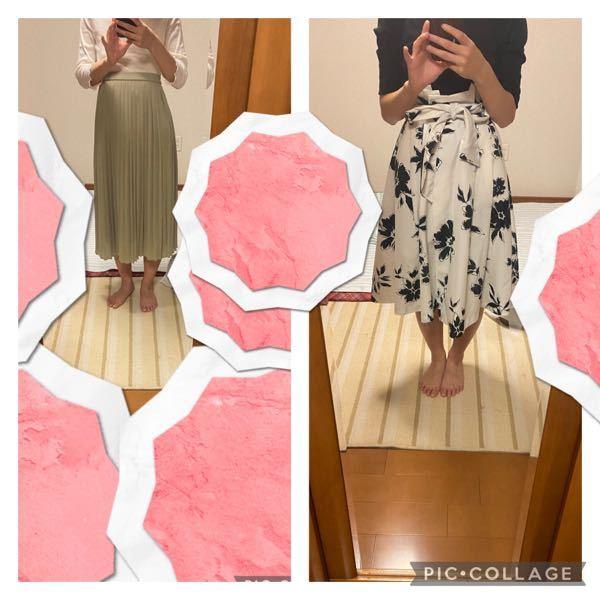 右のスカートだてスタイル悪く見えますか? 寸胴でくびれがあまりない場合どのような服が似合うでしょうか?