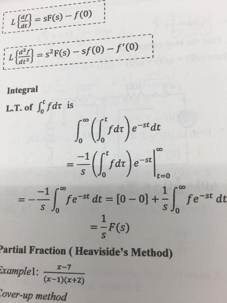 数学の授業で、式の最後に ∞ t=0とあるのですが、これは積分をする時に書くように[与式]0から∞ということでいいですか?