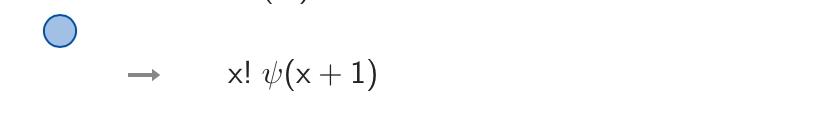 数式のこの真ん中にある記号ってどういう意味、計算方法なんですか? ちなみに、x!を微分したものです。