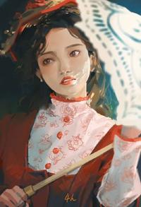 次のイラストを描かれた方を探しています。ネットで偶然見つけて描いた方が誰なのか気になっています。わかる方がいたら教えてください。お願い致します。