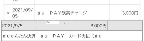今月auペイクレジットカードからauペイにチャージをしたのですが、明細を見てみたらクレジットカードだけでなくかんたん決済の方にもチャージ分として請求されていました。 クレジットカードの支払いとか...