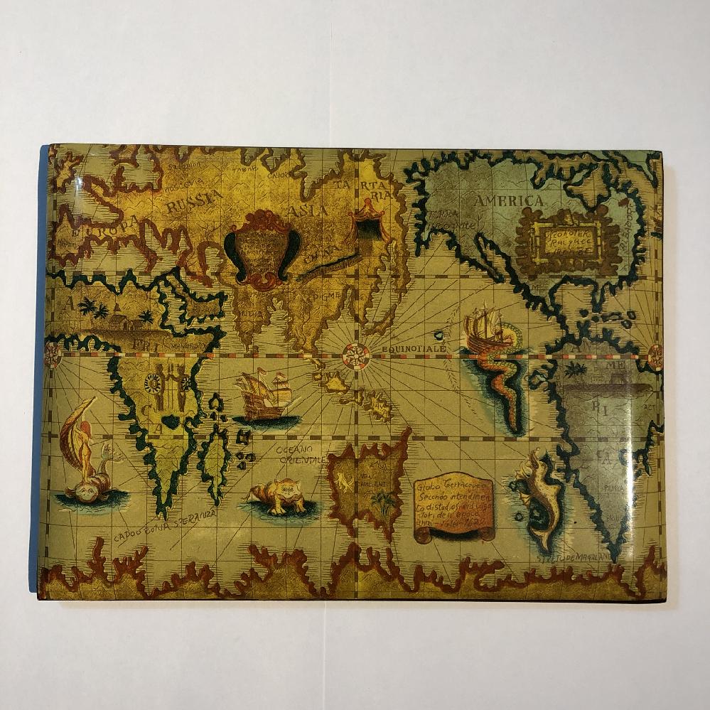 これは誰か歴史的人物が書いた世界地図なのでしょうか? 些細なことでも、なにか分かりましたら教えてください!