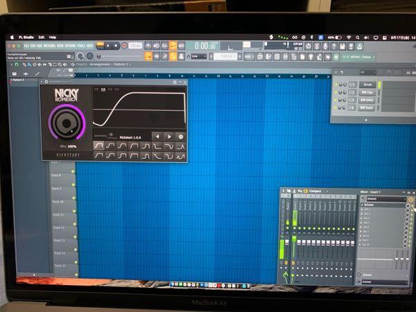 至急お願いします fl studioでKickstartを使ったのですが、音がただ小さくなるだけで、ダッキングの効果がありません! Kickstart内に、音の波形も出ていないです。改善策を教え...
