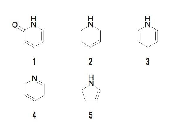 1,4−ジヒドロピリジンはどれか。1つ選んでください。