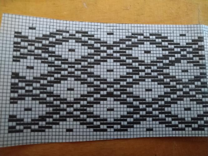 こぎん刺しのこの図案の見方がわかりません 方眼が2個塗りつぶされてるということはつまりどういうこと、?空欄6個はつまりどういうこと、? ほんとに頭がこんがらがってよく分かりません。 誰か教えてく...
