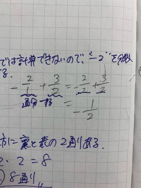 何故答え(1/2)の符号がーになるんですか?