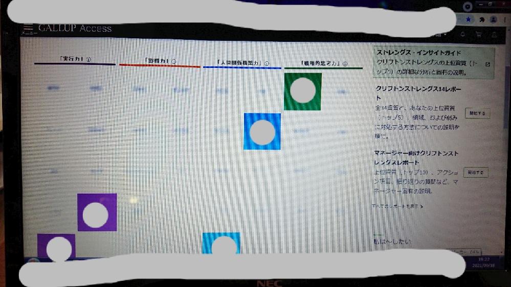 【急ぎ】 ストレングスファインダーの診断、 途中でPCを切っても続きから出来ますか? 今ストレングスファインダーの診断をPCでやっており、 「ストレングス・インサイトガイド クリフトンストレング...