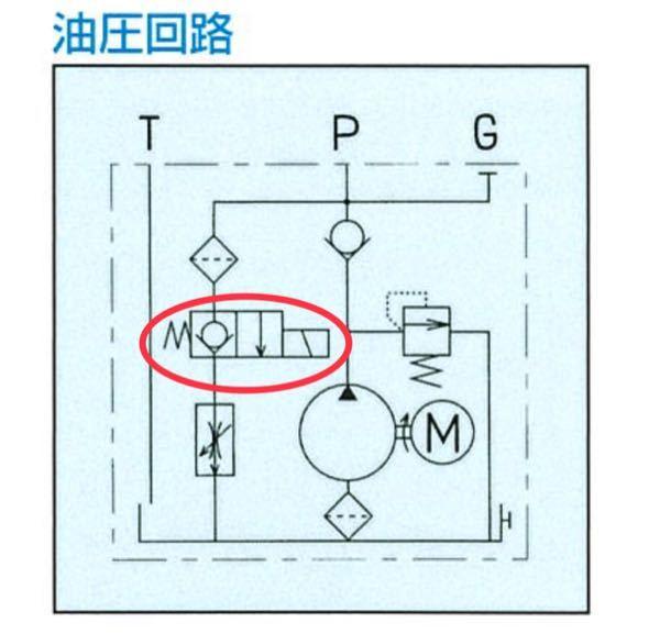 油圧回路の赤丸の解説をお願いします。 初心者です!