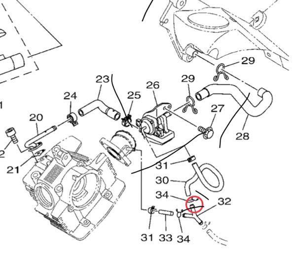 YAMAHA XTZ125 2017年式(中国産)について どなたか詳しい方よろしくお願いいたします。 AISをキャンセルしたく取り外しました。 でエアクリーナーボックスとエンジンの接続部は塞ぎ...