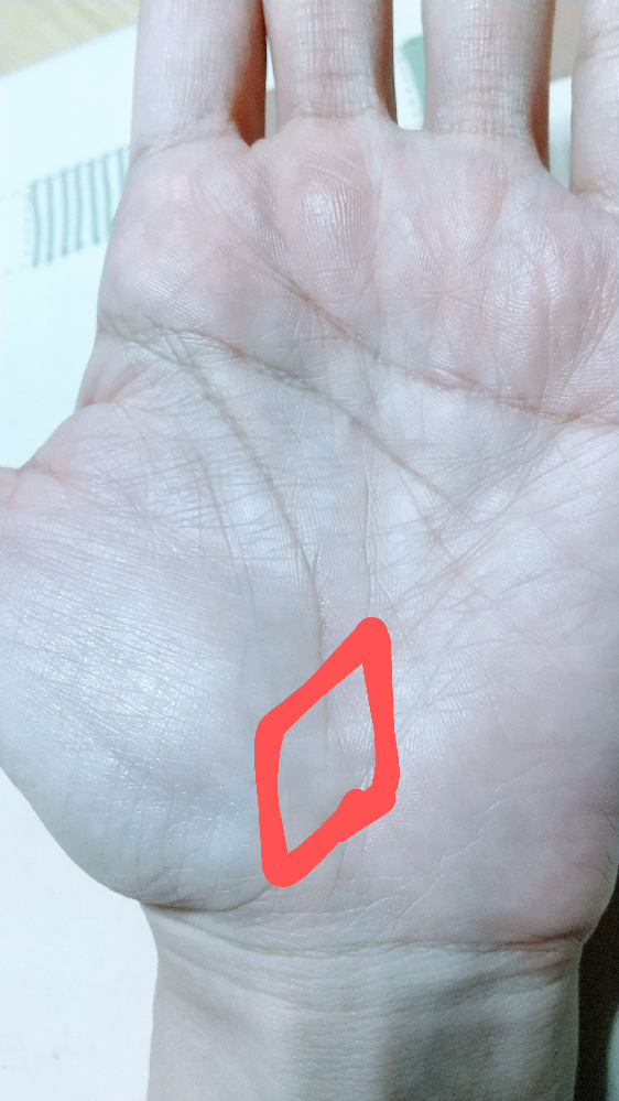 手相に詳しい方にお聞きします。 運命線の端にひし形のようなのが現れてきました。 何か意味があるのでしょうか?