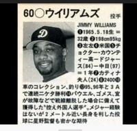 元中日の外国人投手ジミーウィリアムズの資料ありますか? なるべくであれば提示している画像の情報ではない情報が知りたいです?(特に球種や球速)等が知りたいです!!