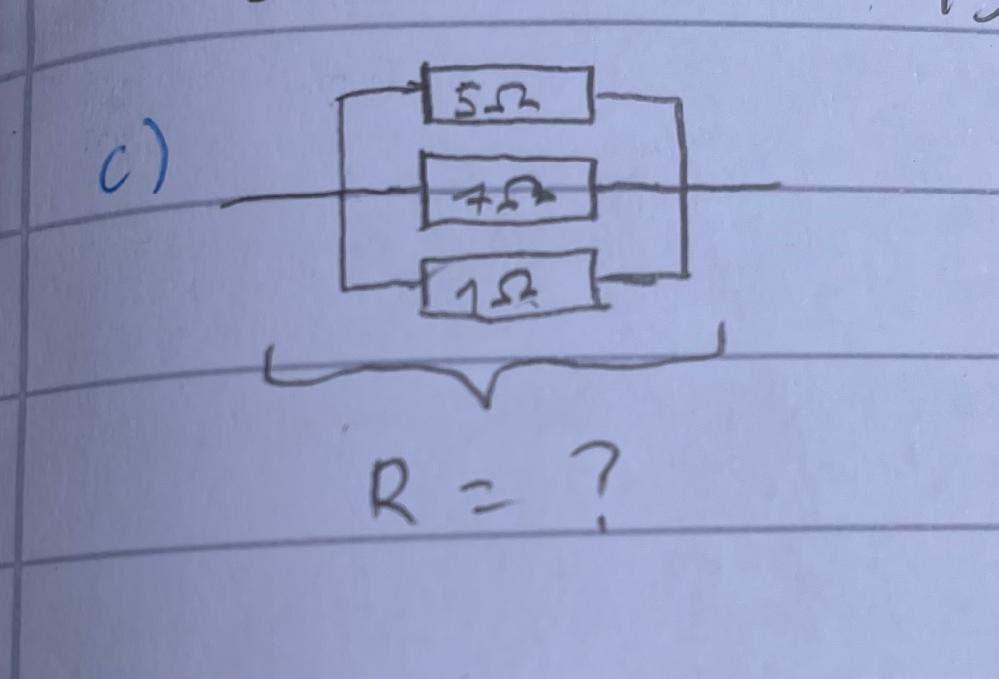 この電気回路の問題をよろしくお願いします。 Rを求める問題です。