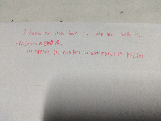 以下の英文について質問です。 まず①は不自然な文章でしょうか。 ②はprojectsの類義語を選んでください。 よろしくおねがいします