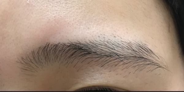 至急!!少し汚いかもです この眉毛綺麗に整える方法教えてください! メイクするとき、特に下のラインががたがたでやりにくいので整えたいです。 お願いします!