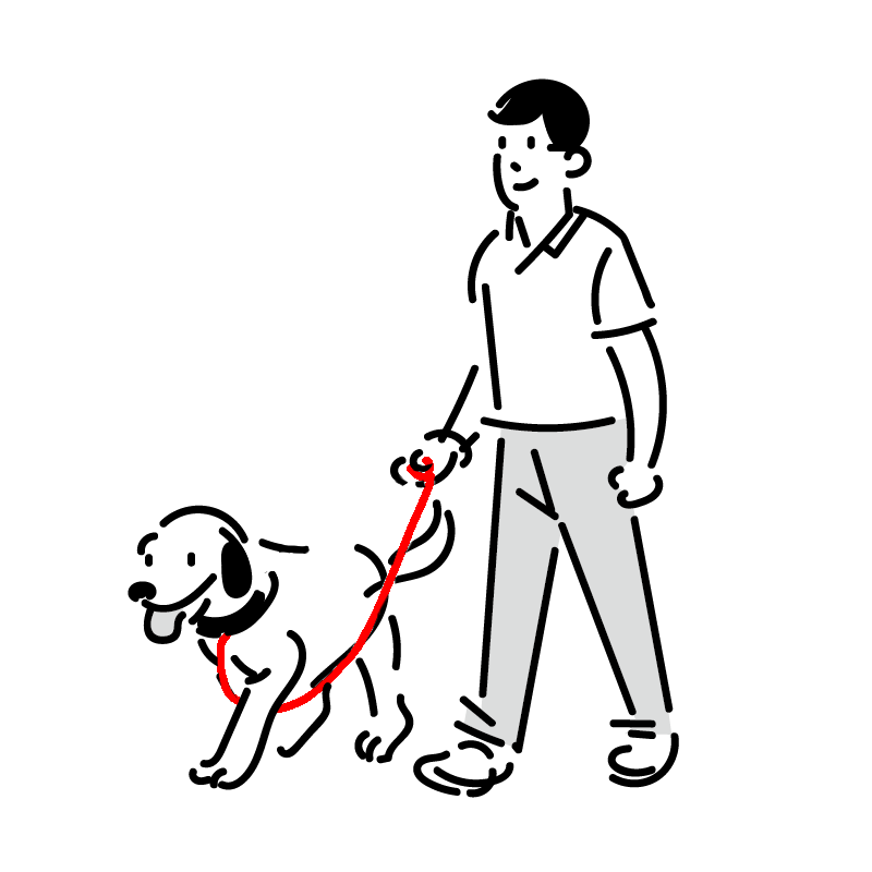 私の犬はよく散歩の時リードを引っ張ってしまうので、対策としてして、画像のように紐を前脚に通しています。 これはいい方法と言えるでしょうか? 何か別の方法はありますか?