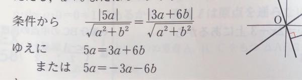 なぜこうなるのか分かりません(><) 教えて頂きたいです(/. .\) (両辺に√a^+b^してるのは分かります!)