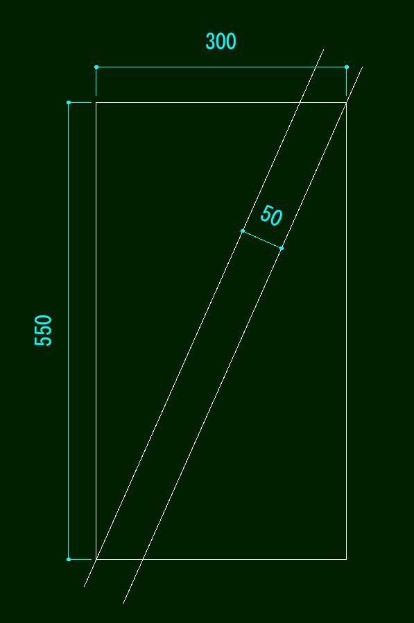 添付の画像で長方形の角にそれぞれ交わる平行線の角度を関数電卓で計算する方法はありますか? CADで描く方法は教えてもらったので角度を出すことはできるのですが、手で計算できるのかどうかが知りたいです