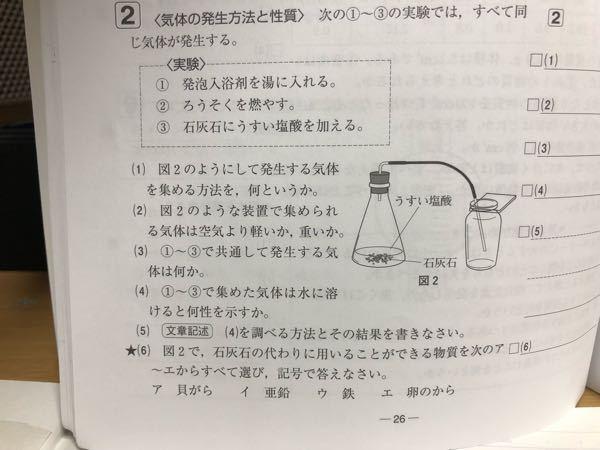 中1理科です。これの解き方を教えてください