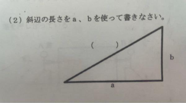 物理で出た三平方の問題なのですが、どうしても分からないので教えて頂きたいです。